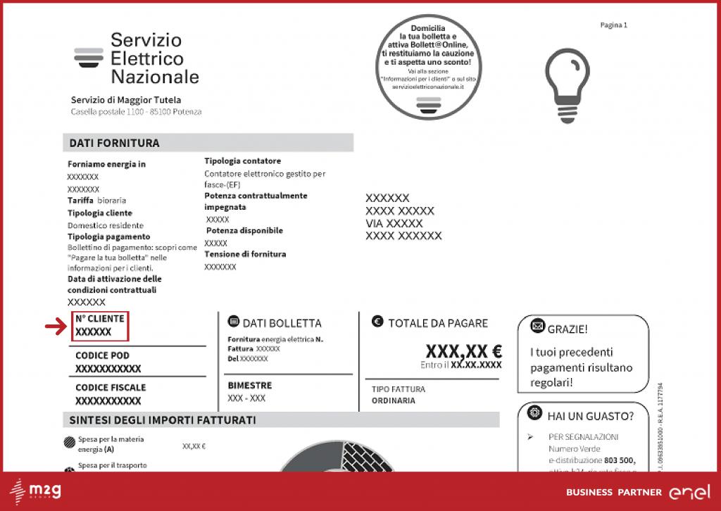 codice cliente servizio elettrico nazionale
